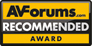 AV Forums, Recommeded Award, October 2012