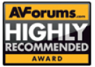 AV Forums, Recommeded Award, April 2013